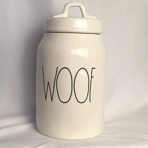 Rae Dunn Woof Dog Treat Canister